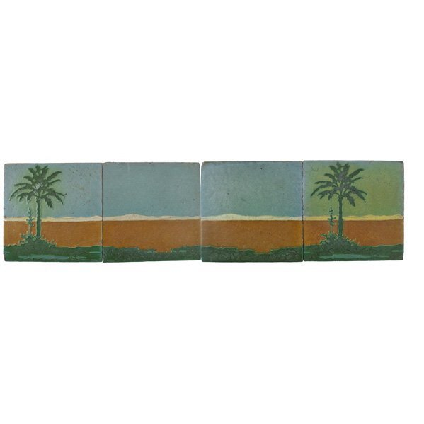 "GRUEBY Rare 12"" tile palm tree frieze"