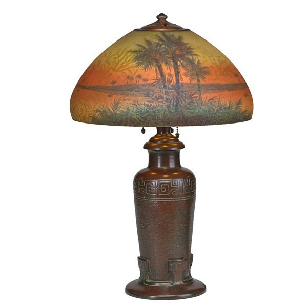 HANDEL Table lamp with palm trees