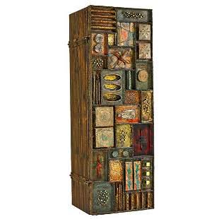 PAUL EVANS Important Sculpture-front cabinet
