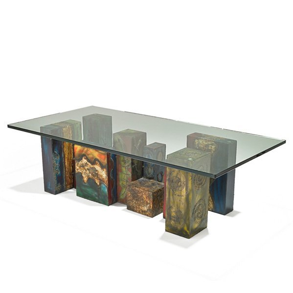 PAUL EVANS Important custom coffee table