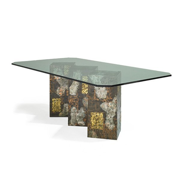 PAUL EVANS; DIRECTIONAL Patchwork dining table