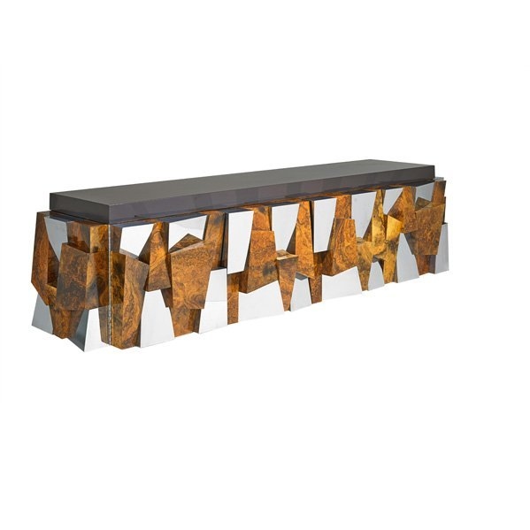 PAUL EVANS; DIRECTIONAL Faceted cabinet