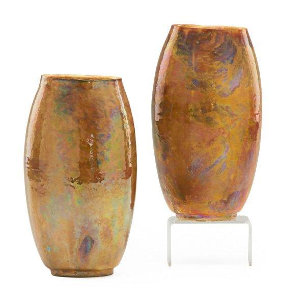 T.A. BROUWER; MIDDLE LANE Pair of vases