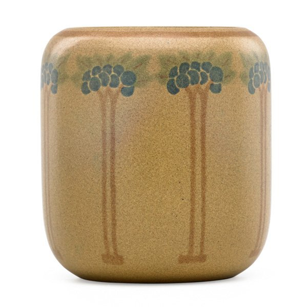 HENNESSEY AND TUTT; MARBLEHEAD Vase w/ trees