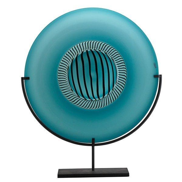 L. TAGLIAPIETRA; M. ANGELIN Large charger, blue