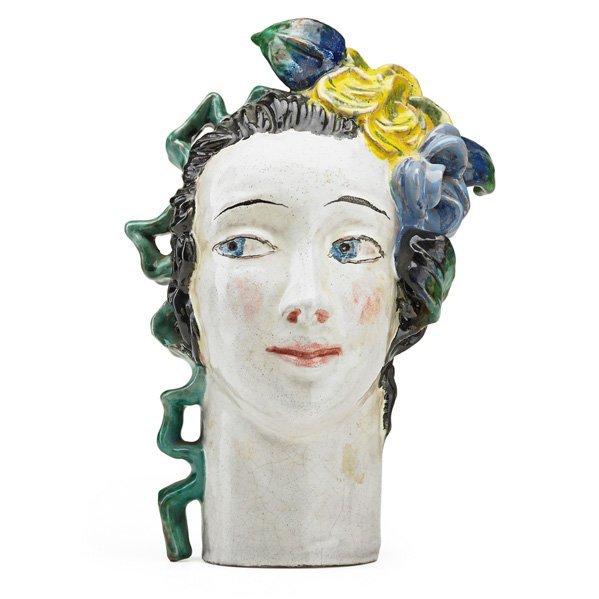 LOTTE CALM; WIENER WERKSTATTE Ceramic head
