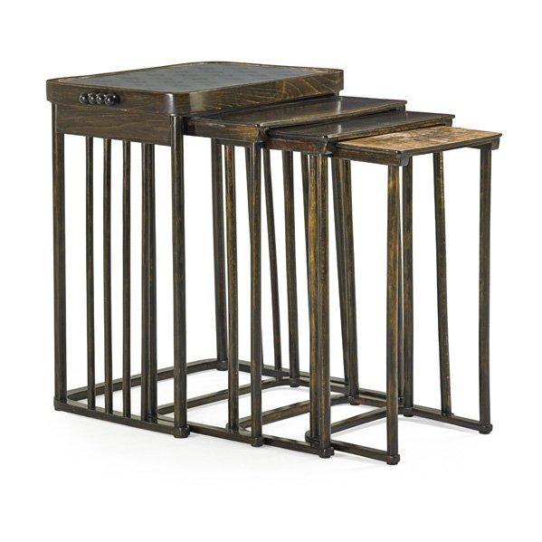 JOSEF HOFFMANN; J & J KOHN Nesting tables