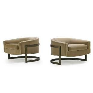 MILO BAUGHMAN; THAYER COGGIN Pair of chairs