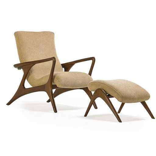 Vladimir Kagan Contour Lounge Chair And Ottoman Placeholder