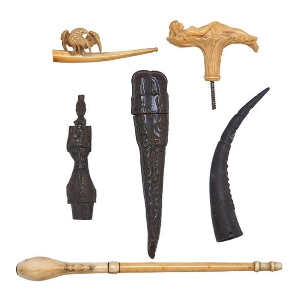 IVORY AND CARVED ACCESSORIES