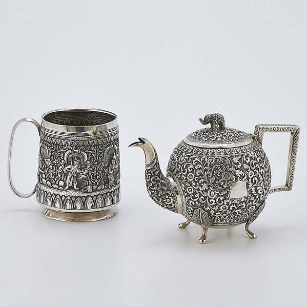 TWO INDO-PERSIAN SILVER VESSELS