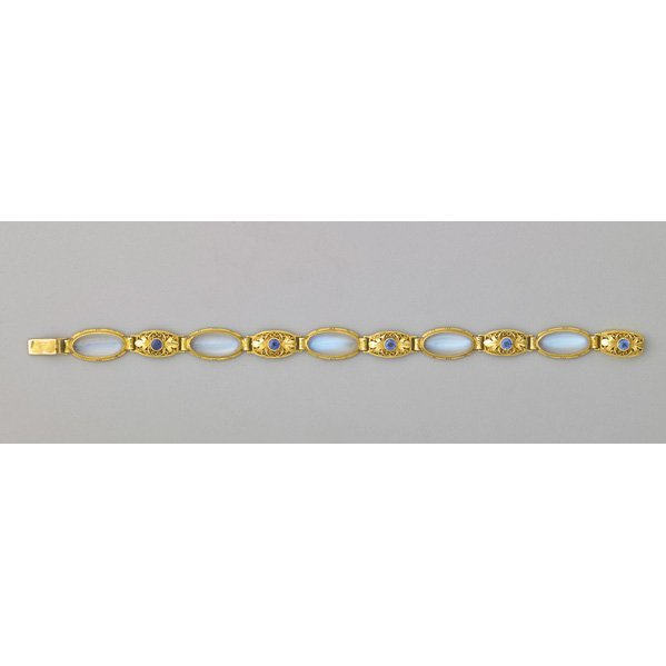 ARTS AND CRAFTS MOONSTONE AND SAPPHIRE BRACELET