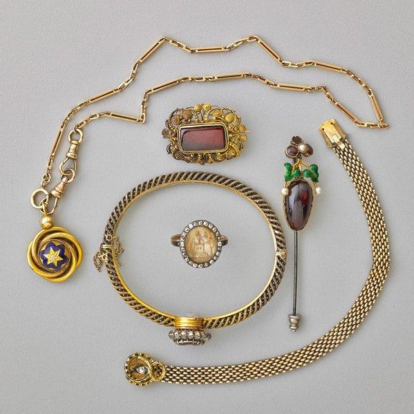 GOLD JEWELRY, 1772-1920