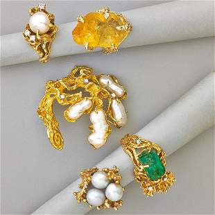 ARTHUR KING AND OTHER FREEFORM GOLD JEWELRY