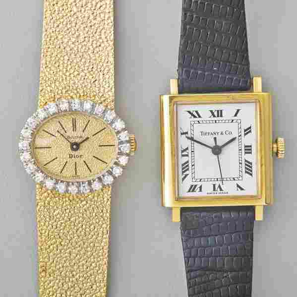 TWO LADIES GOLD MECHANICAL WRISTWATCHES