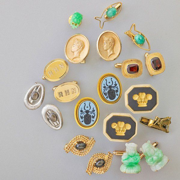 COLLECTION OF GENTLEMAN'S 14K GOLD JEWELRY