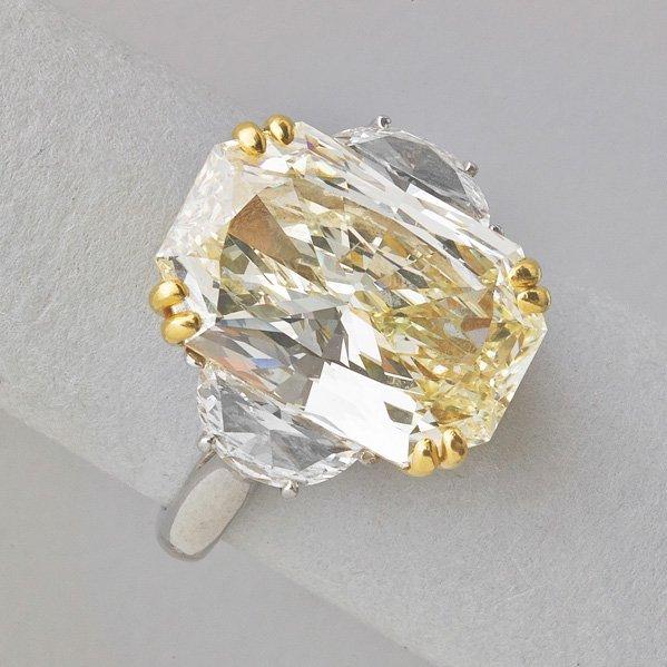 9.04 CTS. RADIANT CUT DIAMOND RING