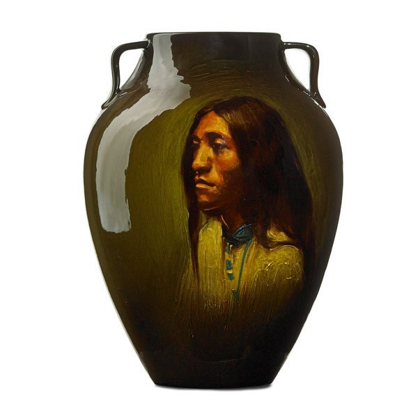 GRACE YOUNG; ROOKWOOD Indian portrait vase