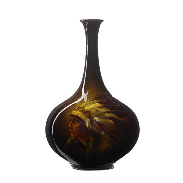 OWENS UTOPIAN Indian chief vase
