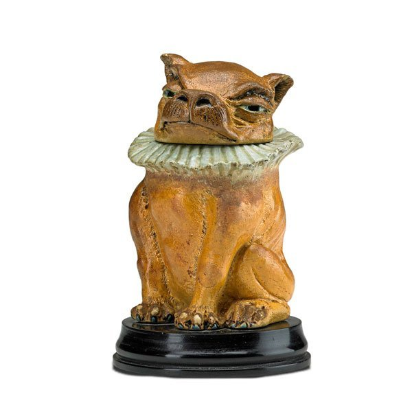 MARTIN BROTHERS Dog tobacco jar