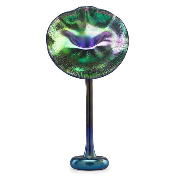 TIFFANY STUDIOS Fine jack-in-the-pulpit vase