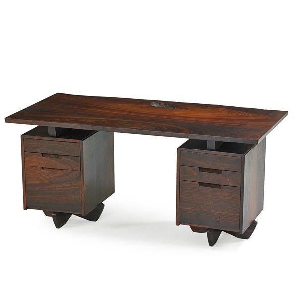 GEORGE NAKASHIMA Rosewood double pedestal desk