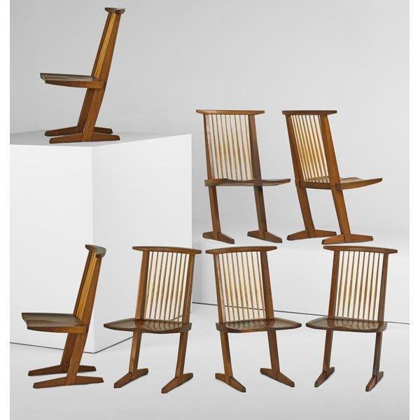 GEORGE NAKASHIMA Six Conoid dining chairs