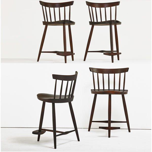 GEORGE NAKASHIMA Four Mira stools