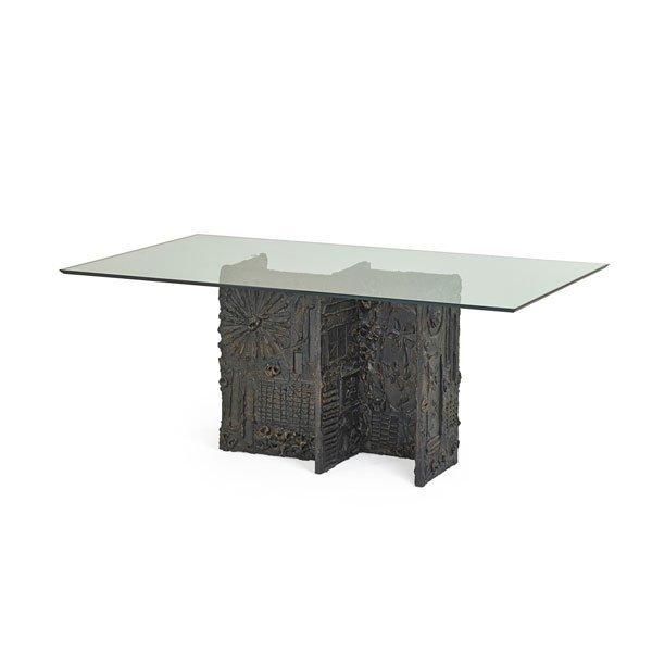 PAUL EVANS; PAUL EVANS STUDIO Dining table