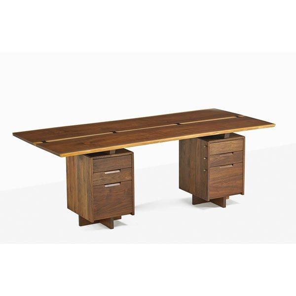 GEORGE NAKASHIMA Fine double pedestal desk