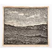 WHARTON ESHERICK Woodblock print