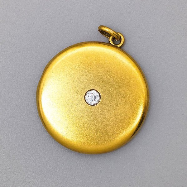 14K GOLD DIAMOND LOCKET, CARTER & GOUGH, NEWARK