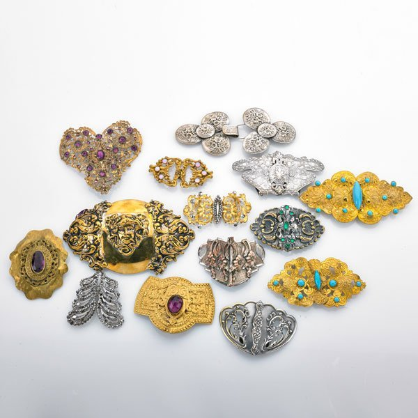 VICTORIAN BELT BUCKLES AND SASH CLASPS