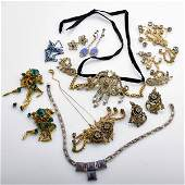 COLLECTION OF ART DECO AND THEATRICAL JEWELRY