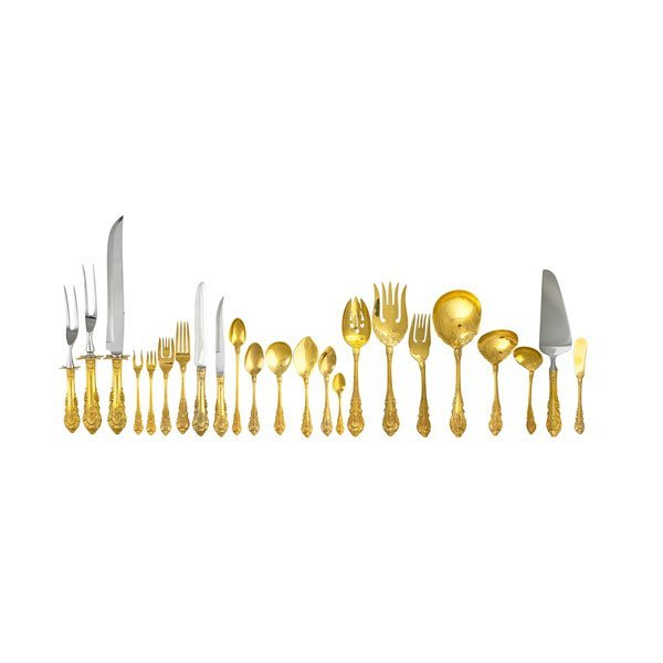 """WALLACE """"SIR CHRISTOPHER"""" STERLING FLATWARE SERVICE"""