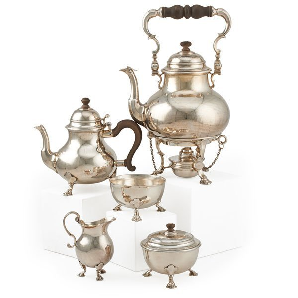 QUEEN ANNE STYLE STERLING TEA SERVICE