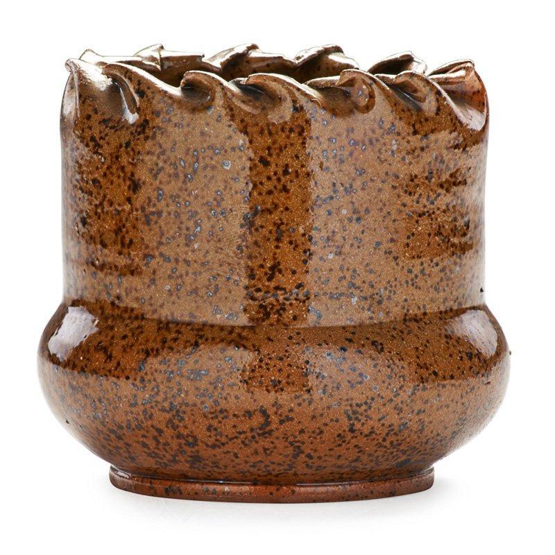 GEORGE OHR Vase, speckled glaze