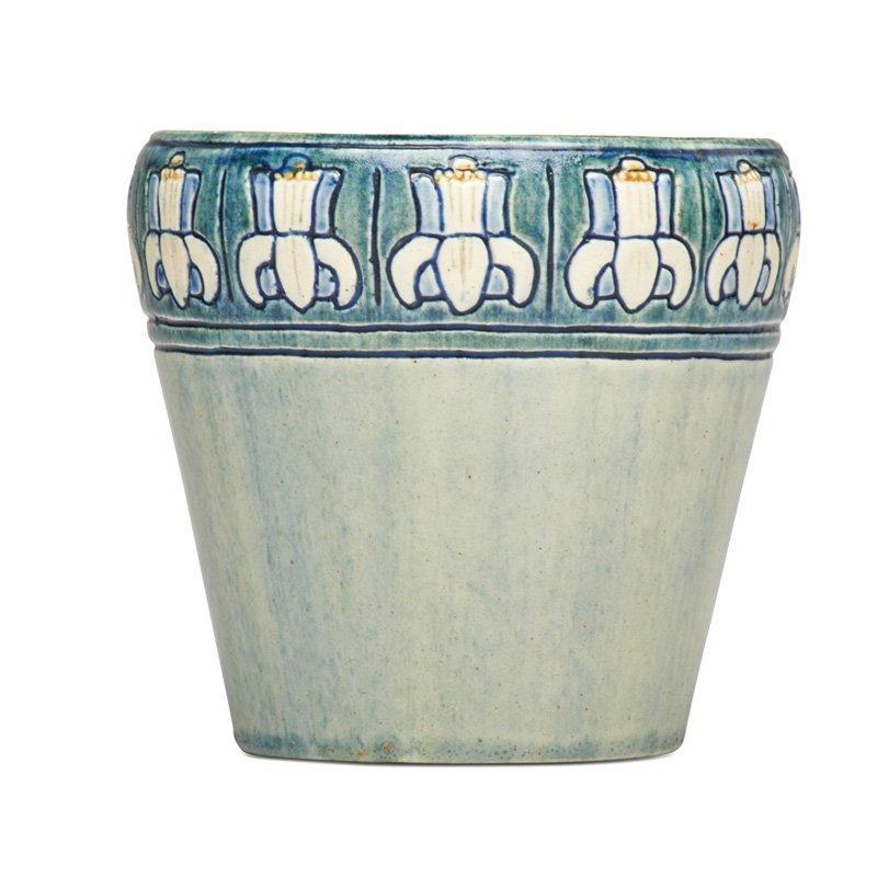 M. LeBLANC; NEWCOMB COLLEGE Early vase