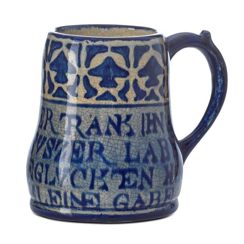 NEWCOMB COLLEGE Early mug w/ German inscription
