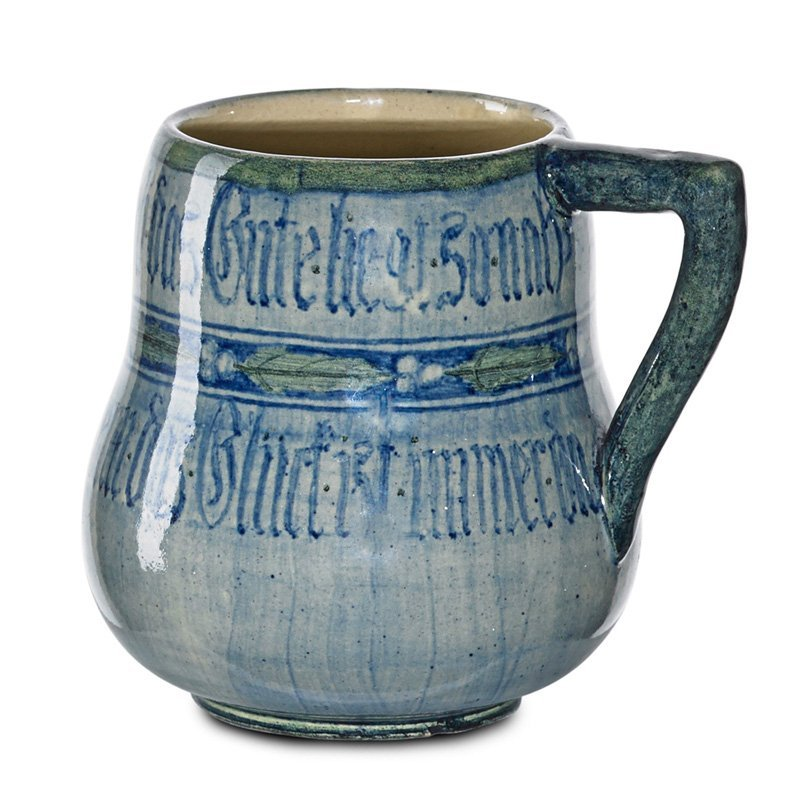 A. SCUDDER; NEWCOMB COLLEGE Mug with inscription
