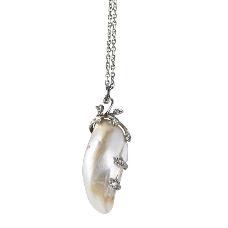 BELLE EPOQUE PEARL PENDANT BY BLACK, STARR & FROST