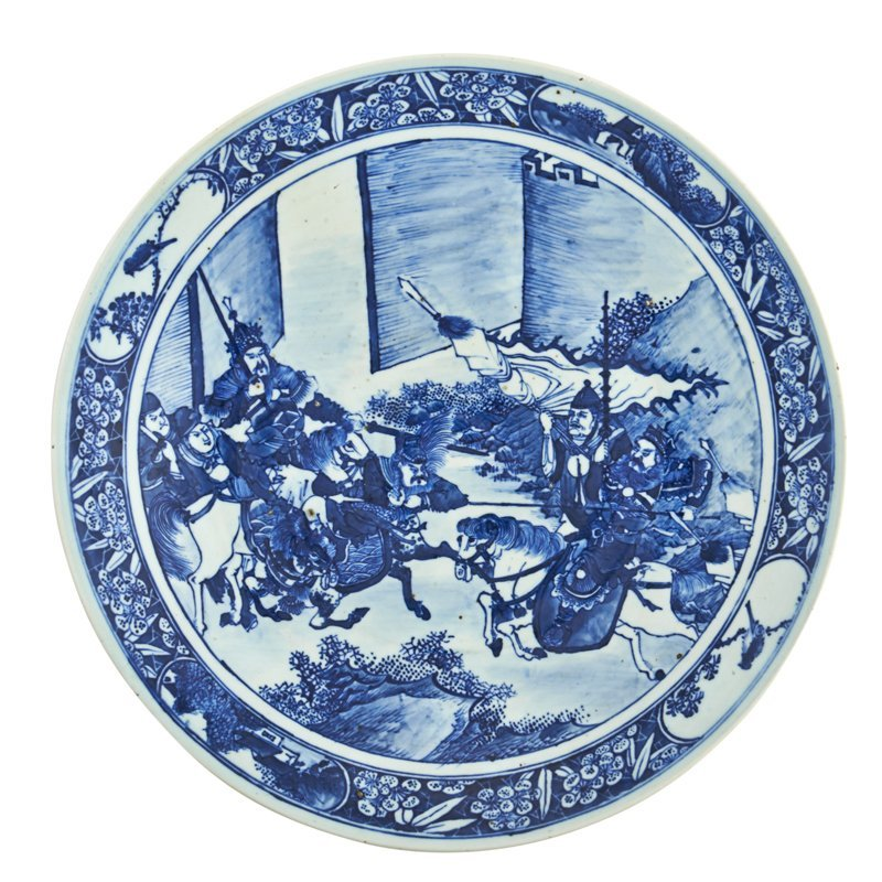 JAPANESE BLUE AND WHITE PORCELAIN CHARGER