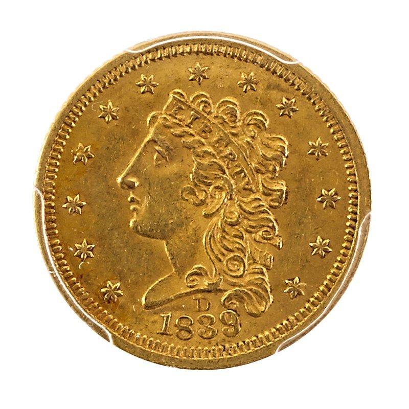 U.S. 1839-D GOLD $2.50 COIN