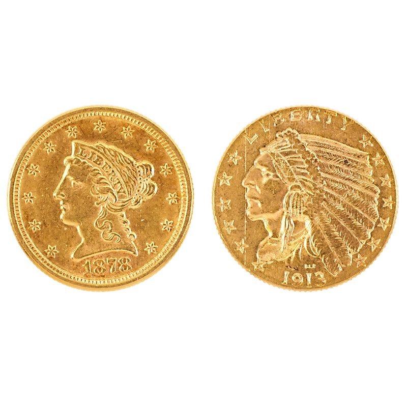 U.S. GOLD $2.50 COINS