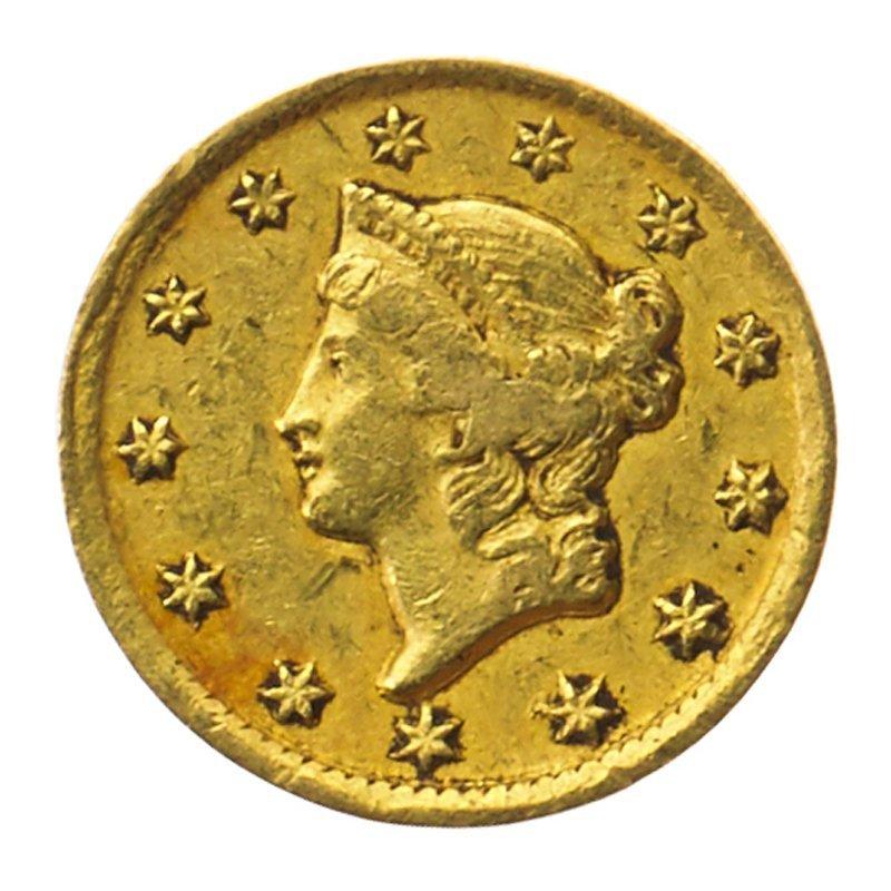 U.S. 1849-D GOLD $1.00 COIN
