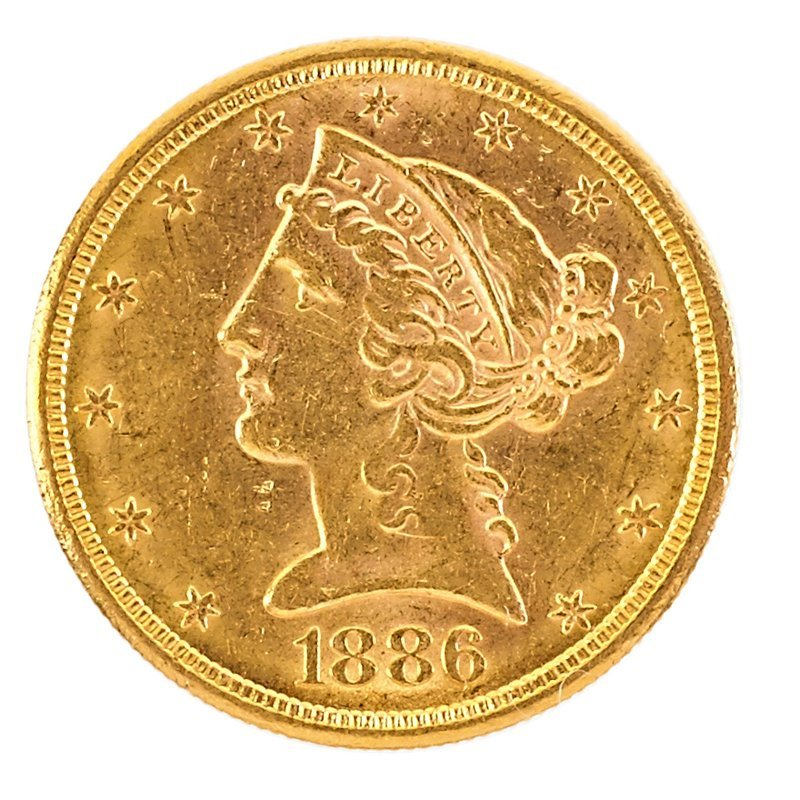 U.S. 1886-D LIBERTY HEAD GOLD $10.00 COIN