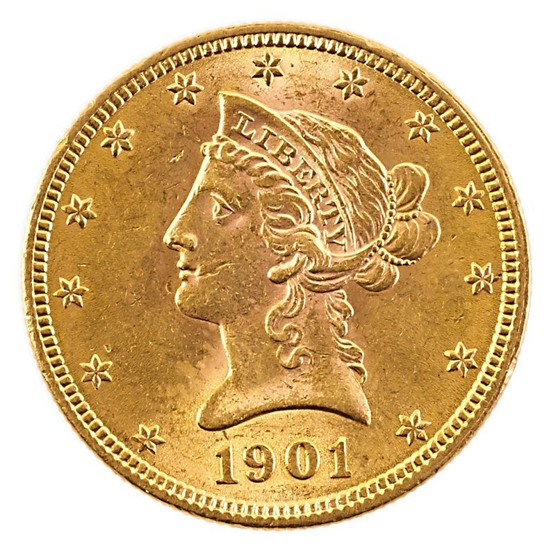 U.S. 1901 LIBERTY HEAD GOLD $10.00 COIN