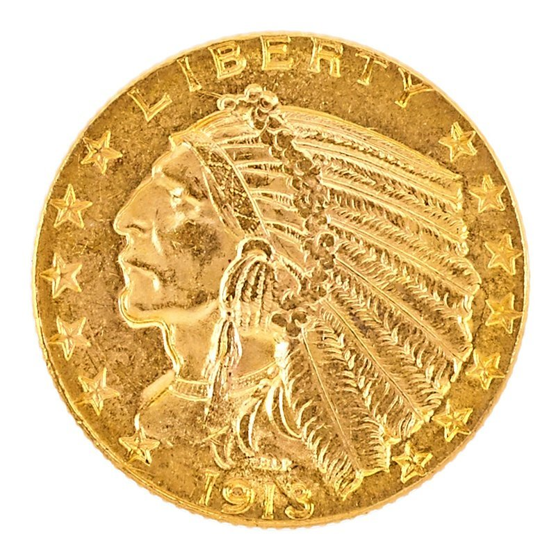 U.S. 1913 INDIAN HEAD GOLD $10.00 COIN