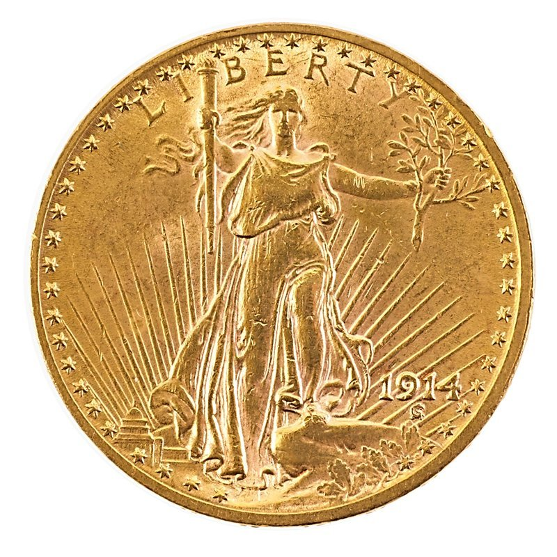 U.S. 1914 ST. GAUDENS GOLD $20.00 COIN