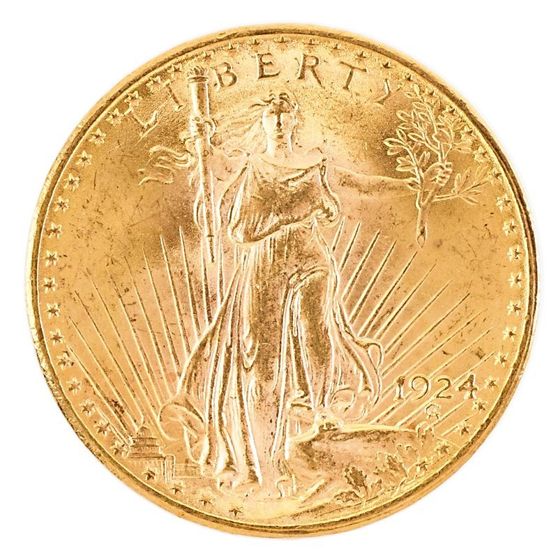 U.S. 1924 ST. GAUDENS GOLD $20.00 COIN